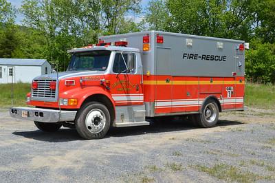 Rescue 42 is a 1990 International 4700/Frontline, sn- 1701.  ex - Romney, West Virginia.