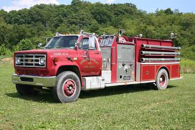 Former Engine 42-14 was this 1980 Chevy C70/American LaFrance, 1000/1000, sn- 1-6995.  ex - Romney, West Virginia.