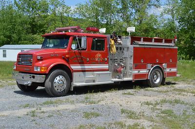 Engine 42-13 is a 1993 International 4900/4-Guys, 1000/1000, sn- F1574.