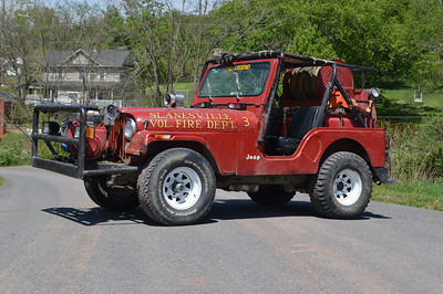 """The Legend"" is Brush 5-1, a 1982 Jeep CJ5/FD, 100 gallon tank."