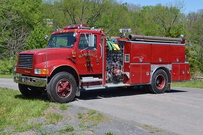 Engine 5-11 is a 1989 International 4900/American Eagle, 1250/750, sn- 77600.