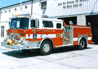 Engine 293 was a nice 1976 Mack CF 600/1996 J.C. Moore, 1000/500, sn- CF685F1845.  Sold to Slanesville, West Virginia.  ex - Mt. Airy, Maryland.  ex - Fayetteville, Pennsylvania.