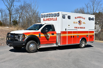 Slanesville, WV in Hampshire County - Ambulance 5 is a 2016 Ford F450/2017 PL Custom.  Received in November of 2017, it replaced the departments 2000 Ford E/Wheeled Coach which was destroyed in an accident on July 22, 2017 while returning to Slanesville from Winchester Hospital.