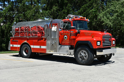 Moorefield's Tanker 46, a 1991 Mack RD688P with a 1983 4-Guys body and equipped with a 500/2000.  4Guys serial number F592.