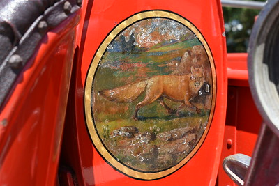 This artwork is found on Moorefield's 1934 Seagrave and is believed to be in recognition of their chief at that time.