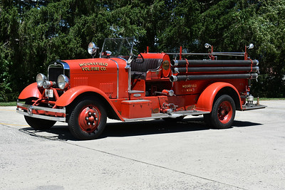 Moorefield's first motorized apparatus is this 1934 Seagrave Suburbanite 6DBiT.  It carries serial number 77215.  Still owned by the Moorefield Volunteer Fire Company.  Photographed June of 2017.