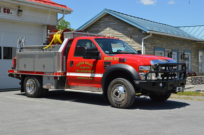 Capon Valley's Brush 267, a 2007 Ford F550/Shade Equipment/FD  300 gallons and 5 gallons of foam.