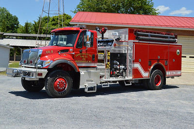 Engine 219 is a 2005 International 7400 4x4/Pierce top mount 1250/1000/25 with serial number 16528.  Equipped with a air cascade.