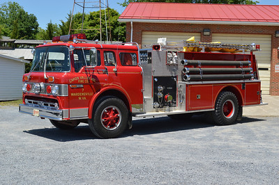 A 1983 Ford C800/Pierce top mount 1000/1000 for Capon Valley VFC in Wardensville, WV.  Job number E2048.