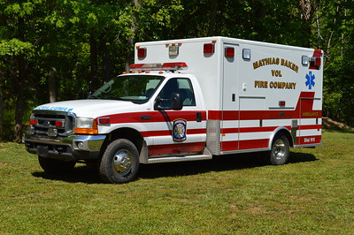 Mathias-Baker Ambulance 473, a 2000 Ford F350/PL Custom.  Purchased in 2014 from Round Hill, VA (Frederick County).