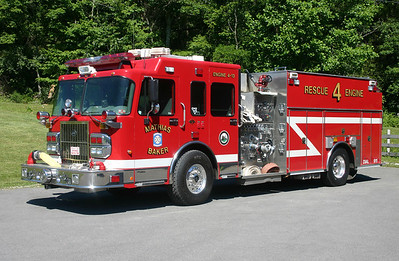 Rescue Engine 4 for Mathias-Baker, WV - a 2005 Spartan Gladiator/S&S with a 1500/800/25/25.  SO# 6054.