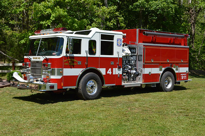 Mathias-Baker, West Virginia Engine 412, a 1998 Pierce Dash 2000  1250/1250 with job number EB620.  Originally delivered to Middletown, VA in Frederick County and sold to Mathias Baker in 2013.