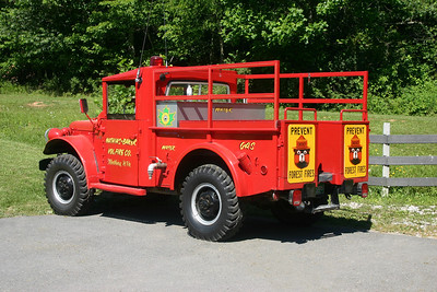 Mathias-Baker, WV Brush 4-63.  A 1962 Dodge M37 3/4 ton 4x4.  1oo gallon water tank with no pump.  Ex- military and WV Forestry Department.