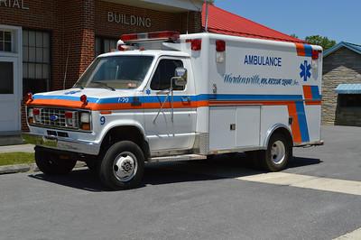 Wardensville, WV Volunteer Rescue Squad.  A Ford E350 ambulance.