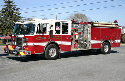 Former Engine 4-1, a 1994 Pierce Dash, 1500/1000/40, sn- E8680.  Sold to the Bakerton VFD in 2016.