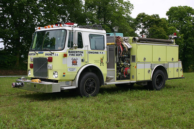Former Engine 7-1 was a 1989 White-Volvo-GMC/American Eagle, 1000/750, sn- 1202.  Sold to a local farmer in 2012.  ex - Hancock, Maryland ex - Middleway, West Virginia.
