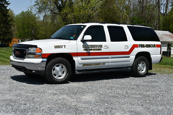 SERV 7 (Special Emergency Response Vehicle) from Bakerton, West Virginia (Jefferson County) is this 2005 GMC.  It was purchased used by the fire department.
