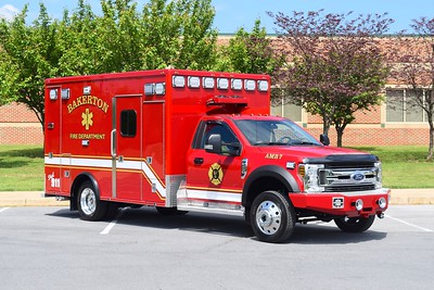 Ambulance 7 from Bakerton is a 2019 Ford F-450/2007 MedTec.  The re-mount was performed in 2019 by First Priority.  The MedTec body is ex - Shepherdstown, West Virginia.