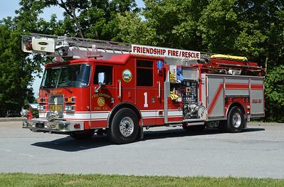 Engine 1 is a nice 2002 Pierce Dash, 1750/500, 61' Sky-Boom, sn- 13170.