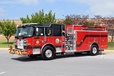 Engine-Tanker 1 from the Friendship Fire Company in Harpers Ferry, WV, is a nice 2019 Pierce Arrow XT, 1500/1800, sn- 32590.  This truck replaces a 1989 Pierce Arrow engine and a 1997 Freightliner/S&S tanker.