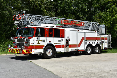 Charles Town, West Virginia Citizens Fire Company Truck 2 - Jefferson County.  2016 Spartan Metro/Smeal Sirius 105'.  Photographed in August of 2017.