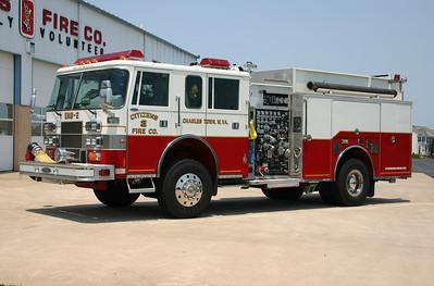 Former Engine 2 was this nice 1997 Pierce Saber 4x4, 1250/750/40, sn- EA830.