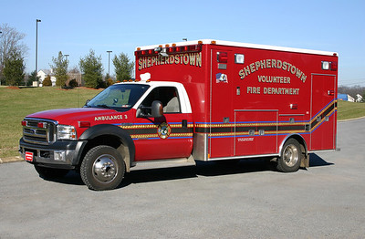 Former Ambulance 3 is a 2006 Ford F-450/MedTec.