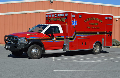Driver side view of Ambulance 3-1, a 2016 Dodge 4500 4x4/PL Custom.