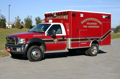 Former Ambulance 3-1 is a 2006 Ford F-450/1996 PL Custom.