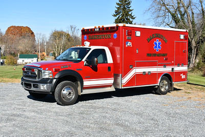 Bakerton, West Virginia in Jefferson County purchased this 2006 Ford F450/2007 Medtec from Shepherdstown, West Virginia, also in Jefferson County.  It runs as Ambulance 7 in Bakerton.