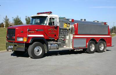 Tanker 3 is a large 1999 Mack CL/Semo, 500/3100, sn- J4031.