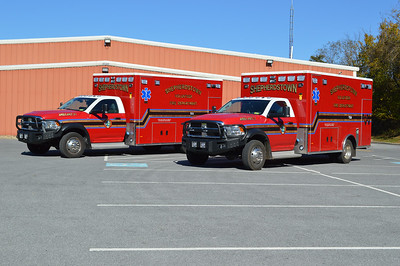 Shepherdstown, WV took delivery of twin ambulances in 2016 - both are 2016 Dodge 4500 4x4 built by PL Custom.