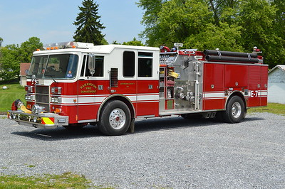 Bakerton's Engine 7 is a 1994 Pierce Dash top mount 1500/1000/40 and job number E8680.  Received in 2016, it originally operated at the Independent Fire Company in Charles Town, West Virginia, which is located close to Bakerton.