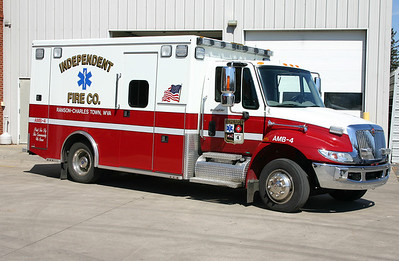 Former Ambulance 4 was this 2008 International Dura Star/Road Rescue.  Sold to Ryneal, a private ambulance company.