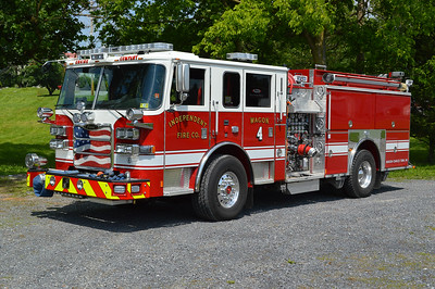 Charles Town, West Virginia Independent Fire Company's Wagon 4, a 2016 Pierce Arrow XT equipped with a 1500/750/30A and Pierce job number 29273.  It replaced a 1994 Pierce Dash, which was sold to nearby Bakerton, West Virginia in Jefferson County.