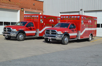 Group shot of the two Dodge ambos.