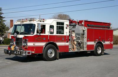 Engine 4 is a 1999 Pierce Dash, 2000/1000/40/40, sn- ED359.