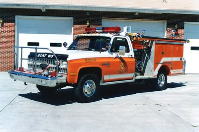 Former SCAT 65, a 1981 Chevrolet/Pierce, 300/250.  ex - Citizens Fire Company, Charles Town, West Virginia.