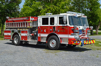 Officer side view of Wagon 4 from the Independent Fire Company in Charles Town, West Virginia.