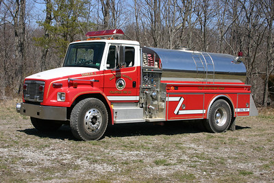 Former Tanker 5 is this 1994 Freightliner 80/4-Guys, 500/1500, sn- 1645 that was sold to Bakerton, West Virginia.