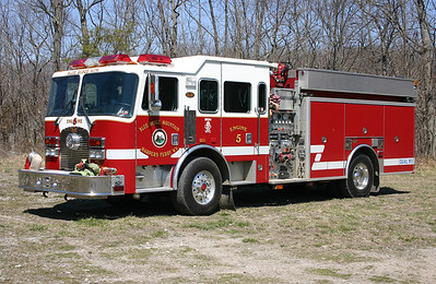Engine 5 is a 2001 KME Excel, 1250/1000, sn- 4715.