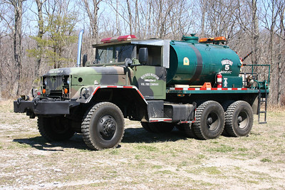 Forestry 5 is this 1965 Kaiser M35/WV David Forestry, 110/1500, sn- 150208.  ex - Military dump truck, tank from 167th Air Force work truck.
