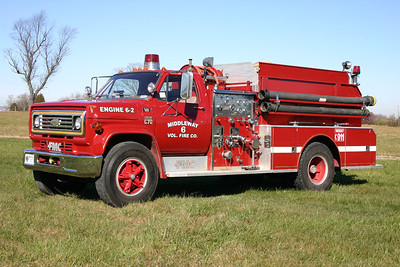 Former Engine 6-2 was this 1979 Chevy C70/FMC, 1000/1100, sn- 9268.  Sold to a ranch in Austin, Texas.  ex - Rockfish VFD in Raeford, North Carolina ex - Jefferson County, West Virginia Tanker 19