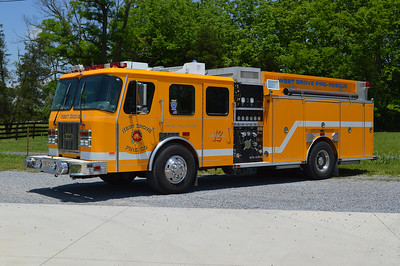 Why is a West Grove, PA fire truck in the Middleway apparatus section?  Middleway purchased this 1995 E-One Cyclone 1500/750 from West Grove, PA in 2016.  It basically arrived ready to go in service as it was equipped with all the necessary hose, tools, ladders, etc.  Middleway made the decision to replace their Engine 6-1 (1991 KME engine) and Rescue 6 (1989 Ford F/E-One) with this rescue engine.    The department has also decided to repaint the 1995 E-One Cyclone to white with a red stripe.  The E-One carries job number 15596.  This photograph was taken shortly after arriving at Middleway on June 1, 2016.