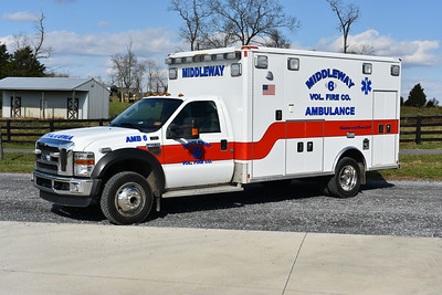 Middleway, West Virginia in Jefferson County acquired this 2009 Ford F450 4x4/Wheeled Coach from Jefferson County where it initially ran as Ambulance 11.  Middleway received the ambulance in 2017 and it replaced a 1996 Ford E/Horton.