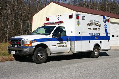 The back-up ambulance is a 1999 Ford F-350/PL Custom. This ambulance also operates as a boat support unit and has a tow hook in the rear.  Sold in 2016.