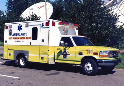 Former Medic 10, a 1995 Ford F-350/Medic Master, Shop #V87.  Sold to Summit Point Raceway, West Virginia.  Converted into a fire truck at the Raceway.