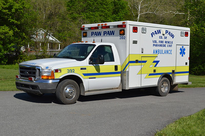 Paw Paw's Ambulance 32-2 (old 392), a 1999 Ford F350/McCoy Miller.