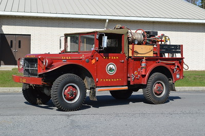 Brush 33-60 from Keyser and operated from their substation.  It is a 1968 Dodge M37 T-245 3/4 ton 4x4 with a 80/200.
