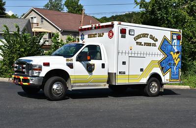 Short Gap, West Virginia (Mineral County) Ambulance 34-71, a 2007 Ford F350/MedTec.